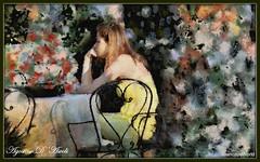 L'Attesa - 2° Elaborazione - Settembre-2018 (Agostino D'Ascoli) Tags: impressionismo persone creative art digitalart digitalpainting agostinodascoli photoshop photopainting colore texture fiori