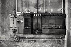Dangerous (Diaffi) Tags: dangerous fusebox decayed house wall analog blackandwhite film zeissikonzm zeisscbiogont2828zm selfdeveloped developedinadoxaph09for12minat20°c ishootfilm minimal görlitz tagdesoffenendenkmals