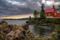 Storm Clouds over Eagle Harbor Lighthouse (Cole Chase Photography) Tags: lighthouse upperpeninsula keweenaw michigan autumn