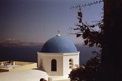 Church (•Nicolas•) Tags: nicolasthomas 200iso c41 color couleur film grece greece holidays ile island kodak leica m4p santorini tourism tourisme vacances church église