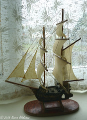 Challenge Friday, week 37, theme bark (2) -  a barque, also referred to as a bark or barc (karenblakeman) Tags: challengefriday cf18 bark barque barc ship sailingship model september 2018 uk