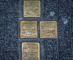 2018 - Amsterdam - Stumbling Stones (Ted's photos - For Me & You) Tags: 2018 amsterdam cropped nikon nikond750 nikonfx tedmcgrath tedsphotos vignetting stolperstein stolpersteinamsterdam amsterdamstolperstein stumblingstones stumblingstonesamsterdam amsterdamstumblingstones brass willylachotzki elsbethlachotzkiberner rosalielachotskicohn bettylewylachotski memorial