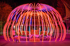 Flowstate within a Flowstate (stephenk1977) Tags: australia queensland qld brisbane nikon d3300 southbank flowstate pergola colour changing led light show double exposure