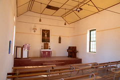 Inside the old church at Hermannsburg (1896-98) (lemien) Tags: rivor hermannsburg australia travel centralaustralia northernterritory au outback lutheran church mission