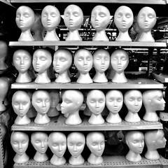 let's do a head count (muffett68 ☺ heidi ☺) Tags: mannequin heads styrofoam styrafoam square