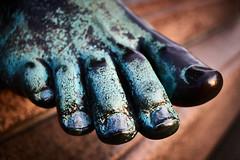 Verdigris - or: every day I'm shufflin' (iamunclefester) Tags: munich münchen toe foot bronze copper rust green verdigris maxmonument shuffle shuffling shufflin