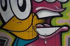 spoon door handle (charlesgyoung) Tags: barcelona spain charlesyoung nikon nikonphotography nikondx travelphotography d500 streetart grafitti