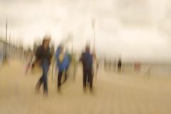 Promenade II (shawn~white) Tags: aberystwyth ceredigion fujifilmxt10 icm people uk westwales alteredstate beach blur coast dream neutraldensity promenade seaside trippy ©shawnwhite walking strut strutting