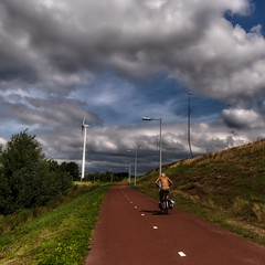 Eenzame fietser | Lonely cyclist