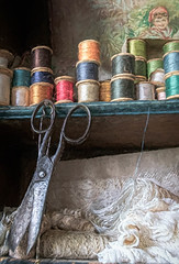 SL270818 The Thomas Shop 13.jpg (Sh4un65_Artistry) Tags: painteffect landscape sewing textured buildings tools wales painterly digitalart textiles stilllife topaz topazimpression digitalpainting paintedphoto artwork interiors thethomasshop places topaztextureeffects