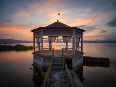 Lago di Massaciuccoli (Timothy Gilbert) Tags: sunrise lagodimassaciuccoli tuscany wideangle microfournerds gazebo m43 ultrawide lumix italy microfourthirds lake gx8 panasonic laowacompactdreamer75mmf20