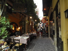 Chania, Crete (caffeine_obsessed) Tags: greece island aegean mediterranean sea ocean city chania sunset harbour buildings restaurant crete cafe shopping