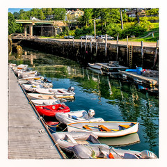 Waiting... (Timothy Valentine) Tags: peoplewithoutpeople 0818 reflections boats dock ocean 52weeks bridge 2018 vacation rockport maine unitedstates us