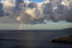 Sail On A Rainbow (B. Blue) Tags: regenbogen boot meer küste landschaft wasser segeln wolken madeira himmel natur portugal landscape nature sky water boat clouds coast ocean rainbow sailing pt