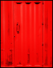 The door (Jean-Louis DUMAS) Tags: artistique artiste artist artistic art abstraction abstrait abstract rouge red door conteneurs porte