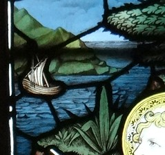 Barby, Northamptonshire (Sheepdog Rex) Tags: stainedglass boats stmaryschurch barby