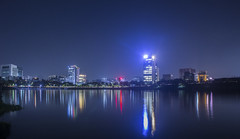 Hatir Jheel , Dhaka (ismambhuiyan) Tags: hatirjheel dhaka bangladesh landscape landscapephotography longexposure longexposurephotography lightandshadow nightlandscape nightphotography sky citylife cityscape lights canel water