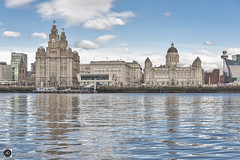 Back to the Front (alundisleyimages@gmail.com) Tags: liverpool waterfront city river mersey weather architecture buildings reflections royalliverbuilding cunardbuilding portofliverpoolbuilding the3graces ports harbours liverbirds destination merseyferries tourism newandold northwest england nikon sigma photography water maritime