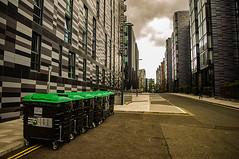 Dystopian Metropolis (Brian Travelling) Tags: pentax kr scotland edinburgh city bins pentaxkr street