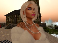 Down by the beach! (kylanoleen) Tags: firestorm secondlife beach white coat blonde sexy