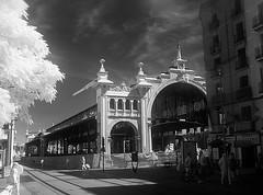 Mercado Central de Zaragoza (o de Lanuza) en obras. Realizado en 1903 (joseange) Tags: infrared mercado zaragoza