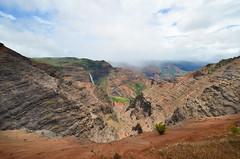 Waimea Canyon (Eric Dewar Photography) Tags: hawaii volcano big island kauai waimea beautiful weather destruction fisser 8 eight fizer wow incredible world vacation summer photography united states blue ocean surfing news hurricane lane landing airplane air sky green laval lava field canyon canyons wide angle nikon d80 cnn cbc