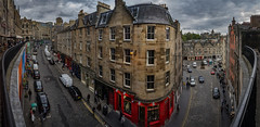 Edinburgh Victoria Street pano 3 5p explored (Bilderschreiber) Tags: thebow bow edinburgh scotland schottland street strase weitwinkel wideangle fischauge fisheye