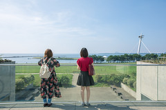 Young female friends looking at sky, sea, and green field (Apricot Cafe) Tags: img106988 asia asianandindianethnicities canonef1635mmf28liiusm japan japaneseethnicity kasairinkaipark tokyojapan anticipation autumn beach beautifulwoman capitalcities casualclothing charming clean cloud colorimage copyspace day deditating expectation friendship fulllength glasswindow happiness leaning leisureactivity lifestyles lookingaway nature onlywomen outdoors people photography publicpark realpeople rearview relaxing resting sea sky thinking transparency twopeople women youngadult