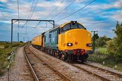 37610 + 37612 - Littleport - 14/09/18. (TRphotography04) Tags: hn rail on hire colas br small logo 37610 37612 pass littleport working 1q99 1642 cambridge recp 13 march down rs test train seen the railway magazine october 2018 issue