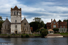 Bisham church by the river (Graham Bowley) Tags: autumn thames landscape church afternoon river bisham riverthames berkshire