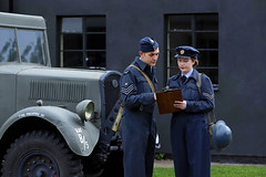 'Attention to Detail' (AndrewPaul_@Oxford) Tags: raf east kirkby 57 squadron 1940s royal air force reenactment reenactors environmental portrait timeline events lincolnshire aviation heritage centre