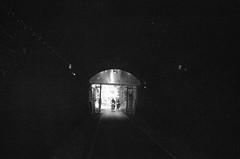Monkton Combe Town Tunnel, Bath (esmeelily) Tags: 35mm film analog lomo lomography grain ilford black white is dead olympus trip af 50