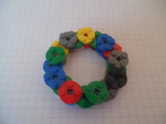"Lego Building Technique: ""2x2 Round Plate"" Pieces (Variation 2) (thebrickccentric) Tags: lego building technique 2x2 round plate pattern fractal fractalia fractals math geometry geometric geometrically sound mathematic mathematically tessalation hex hexagonal tree rock organic 4 four invert hexagon tower flower greeble"