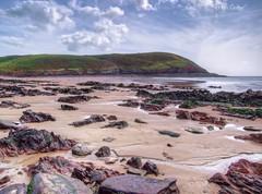 Manorbier beach 2 (Ian Gedge) Tags: uk britain wales cymru pembrokeshire manorbier beach coast coastline rocks sand sea