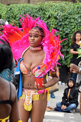 DSC_6898 Notting Hill Caribbean Carnival London Exotic Colourful Costume Pink and Red Ostrich Feather Headdress Girls Dancing Showgirl Performers Aug 27 2018 Stunning Ladies (photographer695) Tags: notting hill caribbean carnival london exotic colourful costume girls dancing showgirl performers aug 27 2018 stunning ladies pink red ostrich feather headdress
