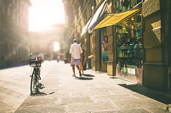 Shopping time (Alessandro Giorgi Art Photography) Tags: shopping time firenze florence italy italia sun summer street urban bicycle bicicletta city città sole