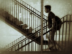 Headed down (Edna Winti) Tags: vancouver ednawinti stairwell stairs ubc