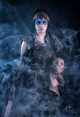 Plane Shifting Art as Senua from Hellblade, shot by SpirosK photography: lost in the mist of her mind (SpirosK photography) Tags: cosplay costumeplay senua hellblade senuassacrifice game videogamecharacter videogame skull sad paranoia schizophrenia madness portrait studio photoshoot cosplayphotoshoot composite planeshiftingart mist fog