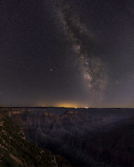 Into the night at Bright Angel Point (ToxicTabasco) Tags: northrim grandcanyonnationalpark landscape milkyway