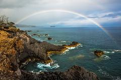 Rainbow Island (Cornelli2010) Tags: acores azoren azores canon1635mmf4lisusm canoneos5dmarkiii atlantic caloura landscape landschaft natur nature ocean ozean portugal rainbow regenbogen saomiguel