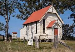 Krambach Church (Wanda Amos@Old Bar) Tags: wandaamos architecture church dunny red rural trees wooden