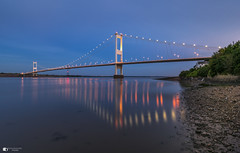 Severn Crossing (technodean2000) Tags: severn crossing chepstow bristol channel nikon d610 lightroom 1835mm lens night bridge reflection first outdoor people photo d810 ©technodean2000 wales welsh uk south photographer technodean2000 lr ps photoshop nik collection flickr grass sky water bay sea
