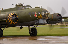 Sally B - Flying Fortress (Aleem Yousaf) Tags: rain weather grey overcast memphis belle boeing b17 flying fortress second world war united states army air force heavy bombers missions national museum wright patterson dayton ohio robertkmorgan sweetheart margaret polk restoration historical aircraft duxford airshow chief engineer peter brown imperial aerodrome cambridge airfield sally operation elly sallingboe preservation airworthy historic airport outside wunway old history station