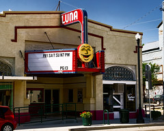 LUNA See (Olden Bald) Tags: newmexico theater cinema movie palacehollywood small town luna lunar moon night noir stars neon sign old america roadside trip red blue yellow
