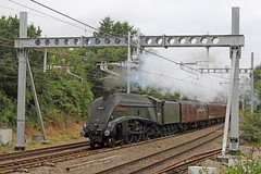 The March of Time (Treflyn) Tags: gresley a4 pacific 60009 unionofsouthafrica steam southcote junction london paddington minehead westsomersetsteamexpress charter difference year makes same locomotive location 13 months ago march time