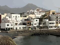 La Caleta Tenerife (Theo K) Tags: caleta tenerife canaryislands lacaleta adobeillustrator harbour seashore houses