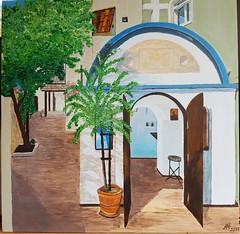 Kleine Hotelkapelle, Kreta (manu1362) Tags: kapelle kreta acryl acrylgemälde