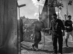 Smoke *Explored* (weerwolfje) Tags: bw bnw blackandwhite street streetphotography monochrome smoke visserijdag bunschoten spakenburg olympus omd mark ii boats inexplore