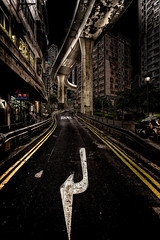 Street View (mcalma68) Tags: hong kong street photography night urban cityscape symmetrical road