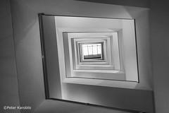 Hamburg - Rappolthaus (peterkaroblis) Tags: hamburg treppenhaus staircase haus house building gebäude innenansicht architektur architecture interiordesign schwarzweiss blackwhite innenarchitektur interieur interiorarchitecture lines curves linesandcurves geometry geometrie composition
